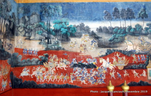 Fresques du Râmâyana, pagode d'Argent, palais Royal, Phnom Penh, Cambodge