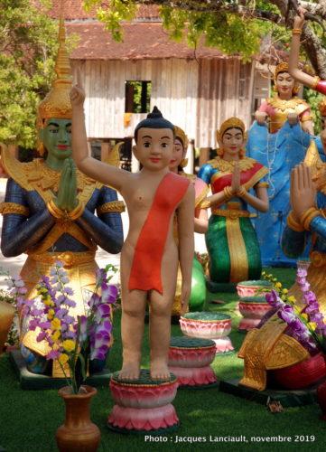 Vihara de la pagode Wat Kampong Leu, Kampong Tralach, Cambodge