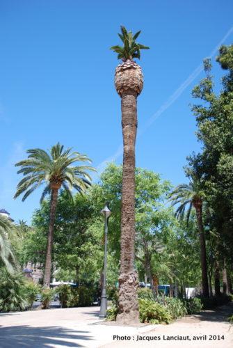 Paseo del Parque, Málaga, Espagne