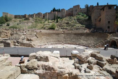 Teatro Romano, Alcazaba, Málaga, Espagne