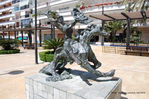 Caballo con jinete tropezando, Salvador Dalí, Marbella, Andalousie, Espagne