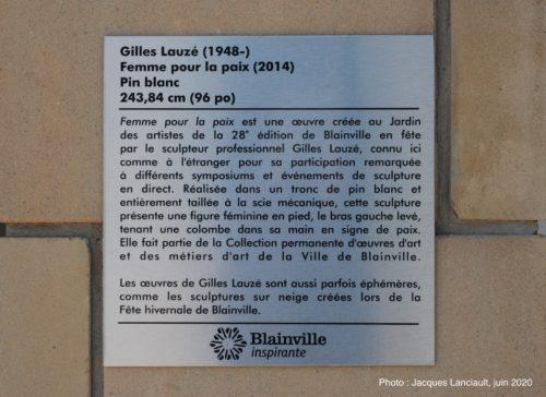 Femme pour la paix, Gilles Lauzé, Blainville, Québec