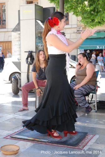 Danseuse de flamenco, Grenade, Andalousie, Espagne