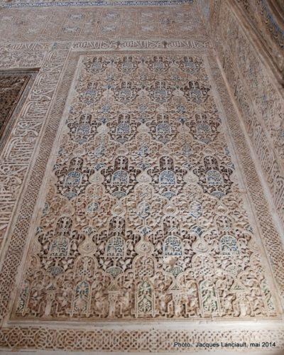 Palacio de Comares, Sala de losAbencerrajes, Alhambra, Grenade, Andalousie, Espagne