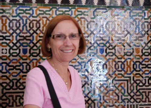 Mirador de Lindaraja, Alhambra, Grenade, Andalousie, Espagne