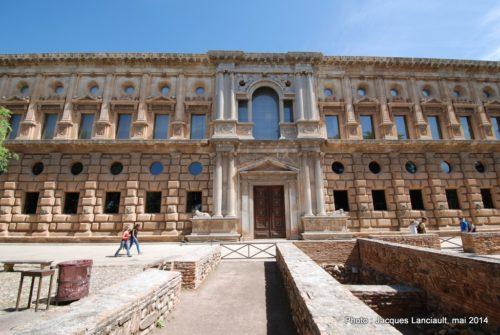 Palacio de Carlos V, Alhambra, Grenade, Andalousie, Espagne