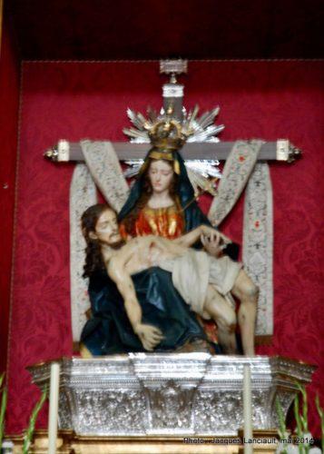 Maître-autel, Iglesia de Santa María de la Alhambra, Grenade, Andalousie, Espagne