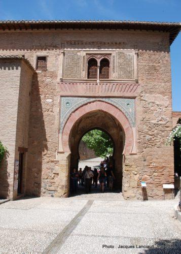 Puerta del Vino, Alhambra, Grenade, Andalousie, Espagne