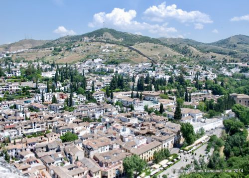 Grenade, Alcazaba, Alhambra, Grenade, Andalousie, Espagne