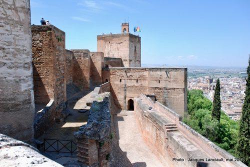 La tour de Guet, Alcazaba, Alhambra, Grenade, Andalousie, Espagne