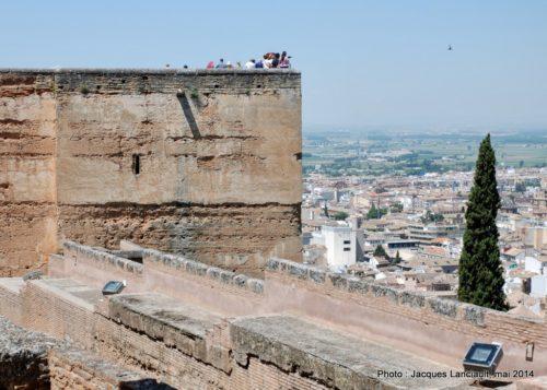 La tour des Armes, Alcazaba, Alhambra, Grenade, Andalousie, Espagne