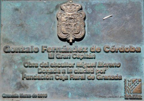 Gran Capitán, Avenida de la Constitución, Grenade, Andalousie, Espagne