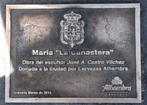 La Canastera, Avenida de la Constitución, Grenade, Andalousie, Espagne