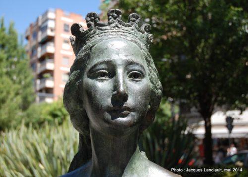 Eugenia de Montijo, Avenida de la Constitución, Grenade, Andalousie, Espagne