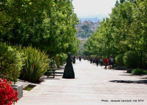 Avenida de la Constitución, Grenade, Andalousie, Espagne