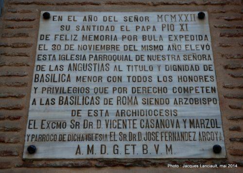Basílica de la Virgen de lasAngustias, Grenade, Andalousie, Espagne