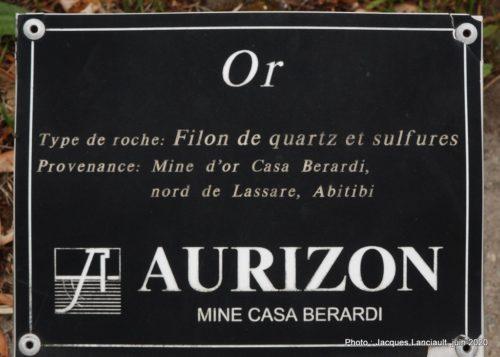 Filon de quartz sulfure, École des Semailles, Blainville, Québec
