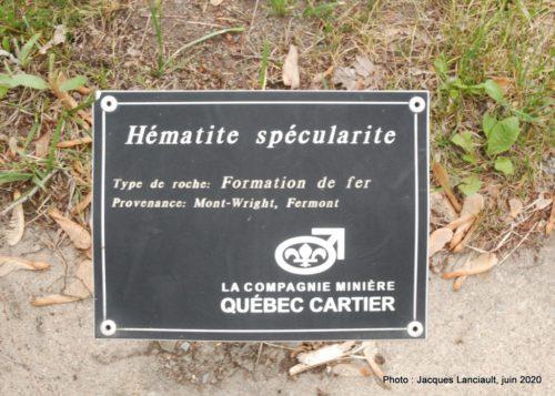 Hématite spécularite, École des Semailles, Blainville, Québec