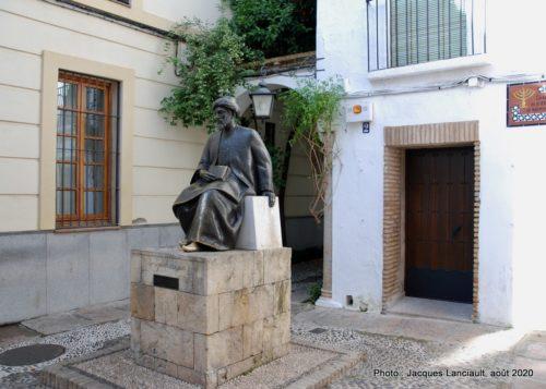 Monument à Maimonide, La Judería, Cordoue, Andalousie, Espagne