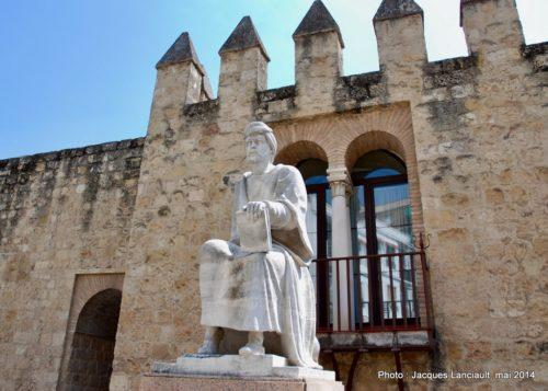 Monument de Averroès, Cordoue, Andalousie, Espagne