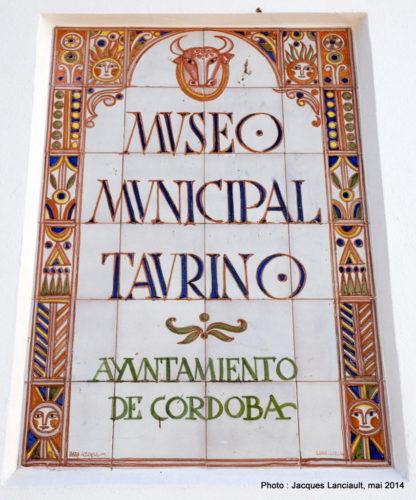 Museo Taurino de Córdoba, Cordoue, Andalousie, Espagne