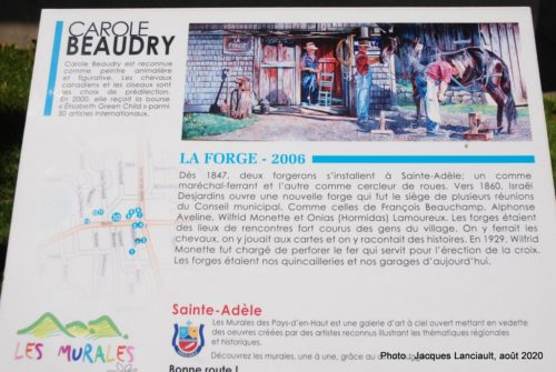 La forge, Carolle Beaudry, Sainte-Adèle, Québec