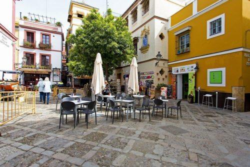 Plaza de los Venerables, Séville, Andalousie, Espagne
