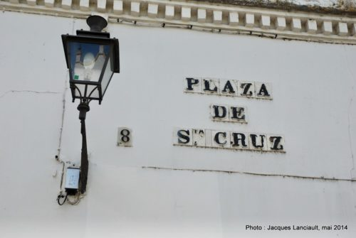 PlazadeSanta Cruz, Séville, Andalousie, Espagne