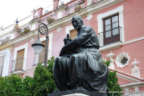 Monument à Juan Martínez Montanès, Plaza del Salvador, Séville, Andalousie, Espagne