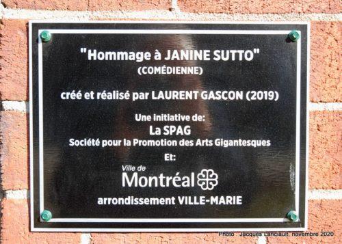 Janine Sutto, Laurent Gascon, Montréal, Québec
