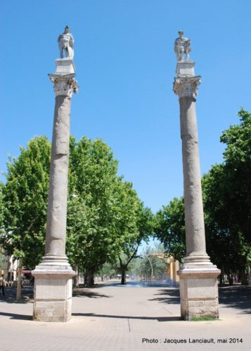 Colonnes de l'Alameda de Hércules, Séville, Andalousie, Espagne