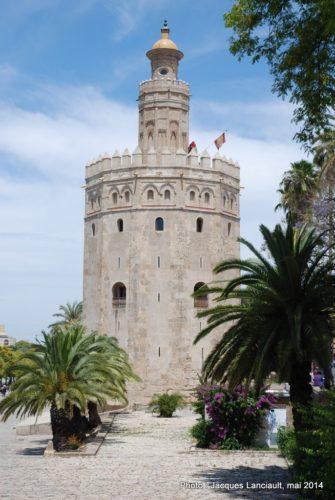 Torre del Oro, Séville, Andalousie, Espagne