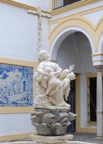 Patio, Hospital de la Santa Caridad, Séville, Andalousie, Espagne