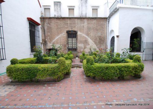 Jardins, Hospital de la Santa Caridad, Séville, Andalousie, Espagne
