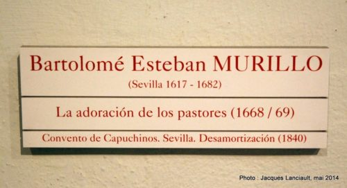 Museo de Bellas Artes, Séville, Andalousie, Espagne