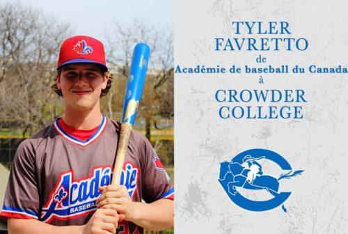 Tyler Favretto, Académie Baseball Canada (ABC)