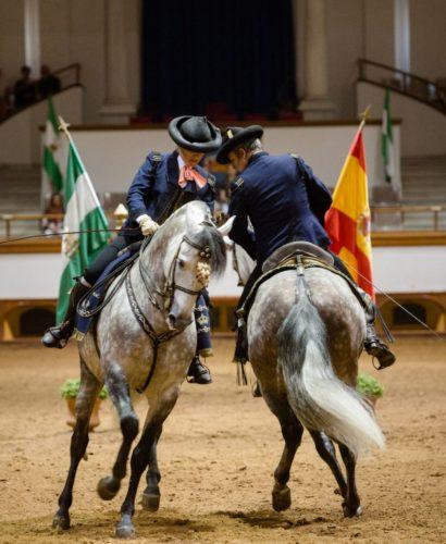 Cómo Bailan los Caballos Andaluces, Jerez de la Frontera, Andalousie, Espagne