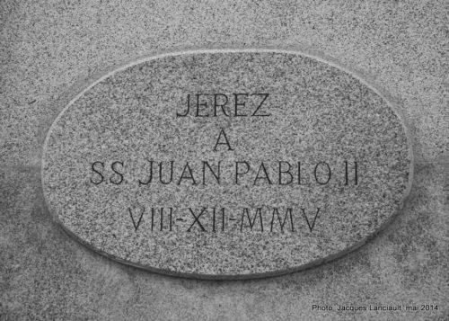 Monument à Jean-PaulII, Jerez de la Frontera, Andalousie, Espagne