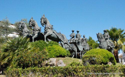 Monumento al Enganche, Plaza del Mamelón, Jerez de la Frontera, Andalousie, Espagne