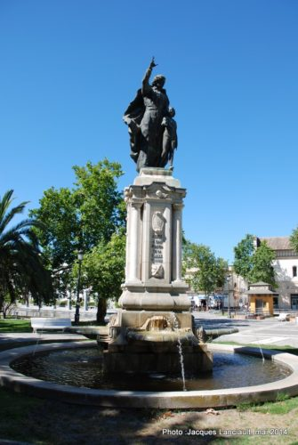 Monument à Saint Jean-Baptiste de La Salle. Jerez de la Frontera, Andalousie, Espagne