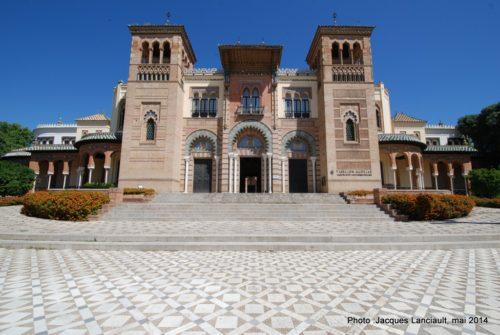 Pabellón Mudéjar, Parque de María Luisa, Séville, Andalousie, Espagne
