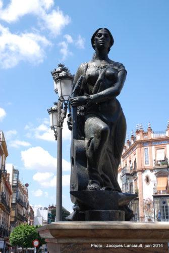 Monument de l'Art flamenco, Triana, Séville, Andalousie, Espagne