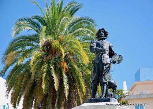 Monument à Murillo, Plaza delMuseo, Séville, Andalousie, Espagne