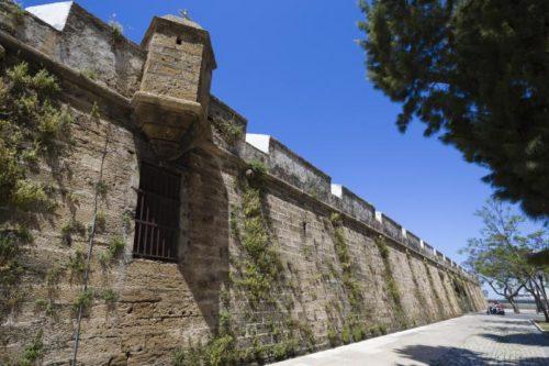Muralla de San Carlos, Cádiz, Andalousie, Espagne