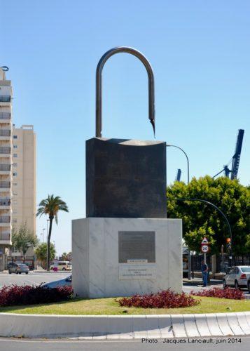 >Monumento a la Libertad de Expresión, Cádiz, Andalousie, Espagne