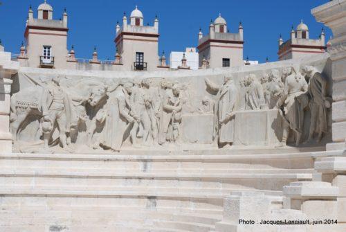Monumento a las Cortes, Cádiz, Andalousie, Espagne