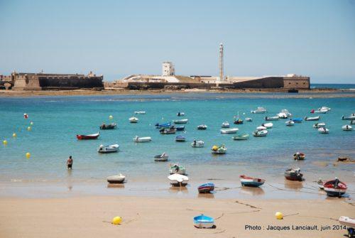 Marina de la playa Caleta, Cádiz, Andalousie, Espagne