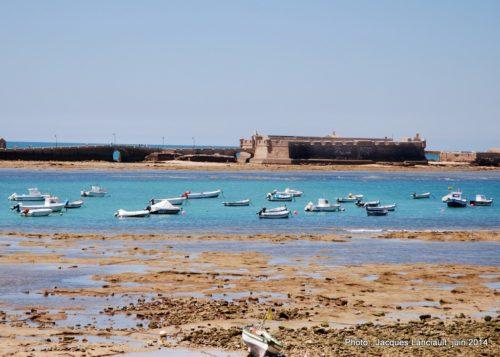 Marina de la Playa de la Caleta, Cádiz, Andalousie, Espagne