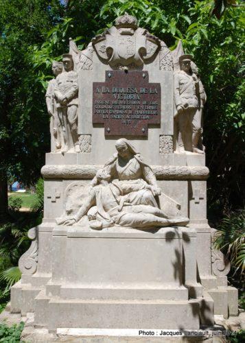 Monument à la duchesse de Victoria, Parque Genovés, Cádiz, Andalousie, Espagne