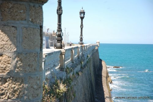 Bastion de la Candelaria, Cádiz, Andalousie, Espagne